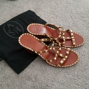 Ash sandals woman's 8 leather new studs